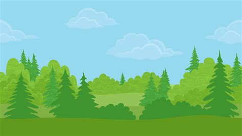 Forest Animated Wallpaper - timelapse panning from conifer tree against forest