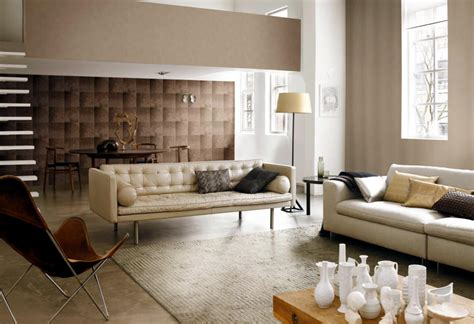 Non Woven Carpet by Brown Pattern Background Classic Living Room Interior
