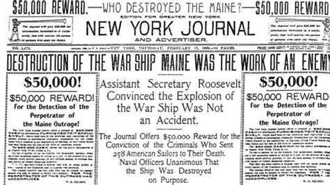 Uss Maine Sinking Yellow Journalism by Fakenews And The Impact Part 2 Acart
