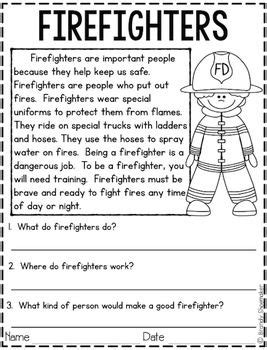 community helpers firefighter  images reading