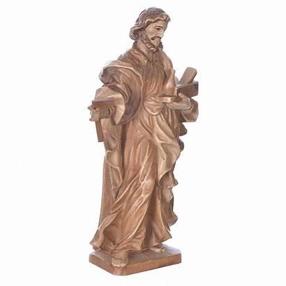 Joseph Worker Statue Saint Woo Patinated Valgardena