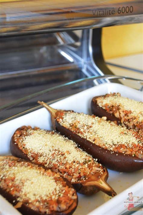 cuisiner l aubergine facile aubergines farcies au thon et riz lolibox recettes de