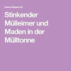 Maden In Der Mülltonne : stinkender m lleimer und maden in der m lltonne haushalt pinterest m lltonne m lleimer ~ Indierocktalk.com Haus und Dekorationen