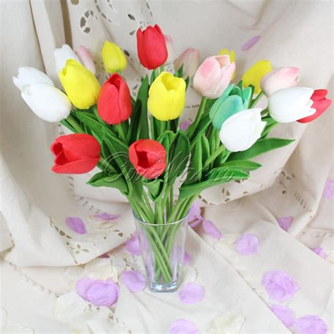 nep bloem rood online kopen wholesale kunstmatige rode tulpen uit china