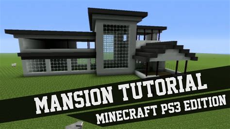mansion tutorial minecraft ps edition  youtube