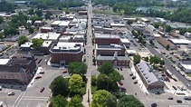 Mount Vernon Ohio Downtown Flyover Drone Video - YouTube