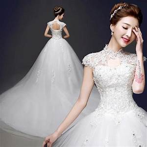 2015 new tail mandarin collar wedding dress collar cut With collared wedding dress
