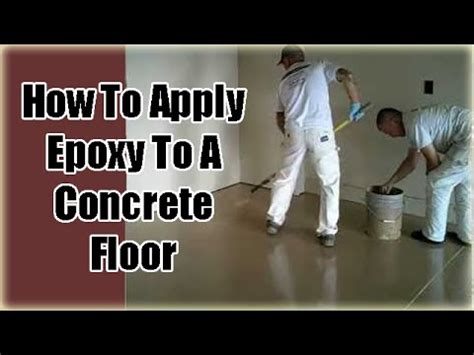epoxy flooring how to apply applying garage floor epoxy coatings part 3 youtube