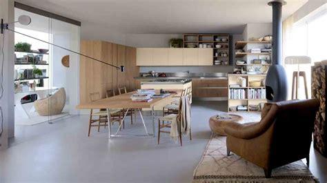 grande table de cuisine cuisines avec îlot central inspiration cuisine