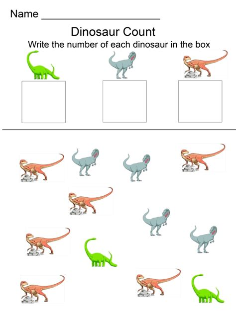 dinosaur ebooks 278 | dinosaur activity pack counting