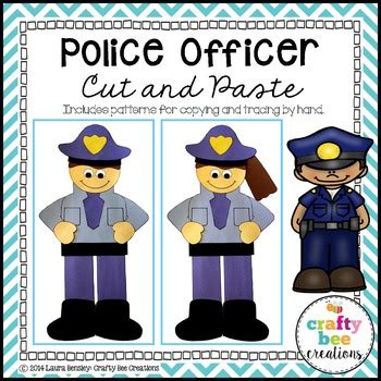 community helper craft police officer  crafty bee