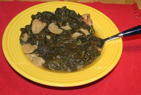 traditional southern greens mustard turnip  collards