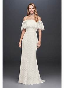 off the shoulder eyelash lace sheath wedding dress david With off the shoulder sheath wedding dress
