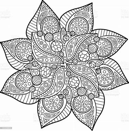 Coloring Floral Abstract Illustration Vector Agricultural Albumen