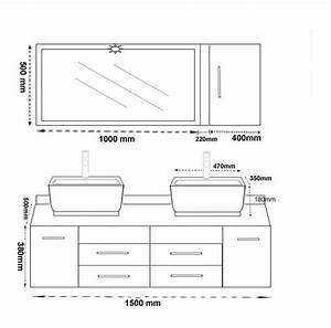 meuble vasque hauteur With hauteur d un miroir de salle de bain