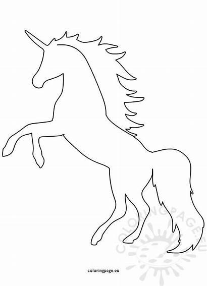 Unicorn Shape Printable Template Coloring Animal