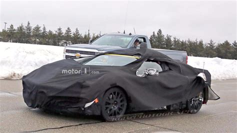 Chevy Corvette Mid Engine by Mid Engine Chevy Corvette And Next Zr1 Spied Testing Together