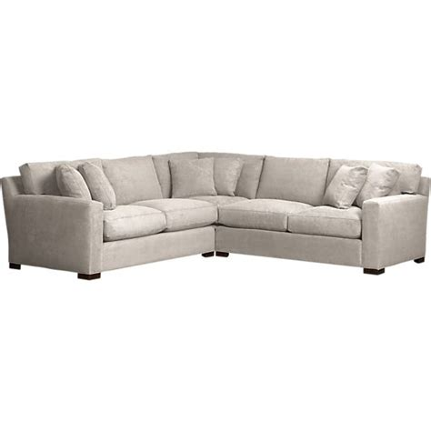 axis 3 piece sectional in sectional sofas crate and barrel