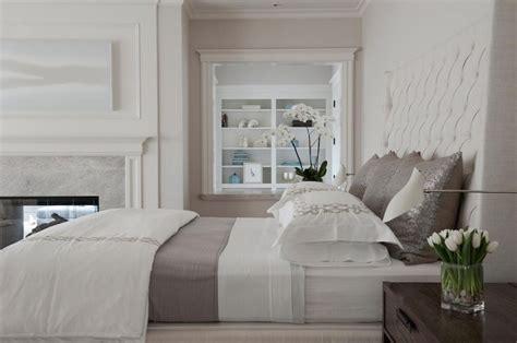 white  gray bedding transitional bedroom rt