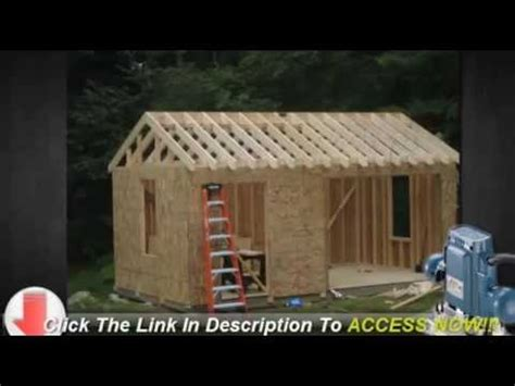 storage shed plans learn build shed budget youtube