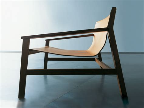 Tanned Leather Armchair With Armrests Sdraio By Living