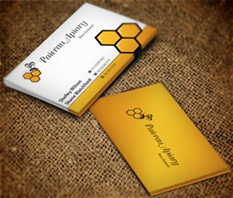 paierau apiary  business card designs   business