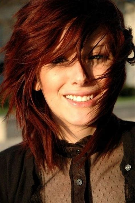 Medium Length Auburn Red Hairstyles   Hair World Magazine