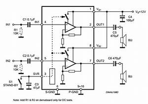 2 X 2w Stereo Audio Amplifier