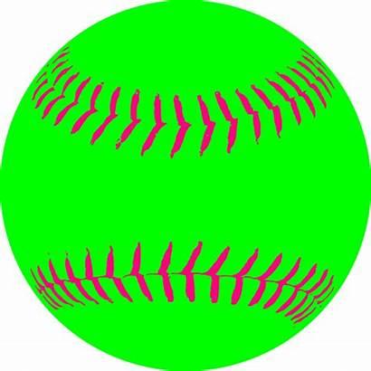 Softball Clip Clipart Clker Vector