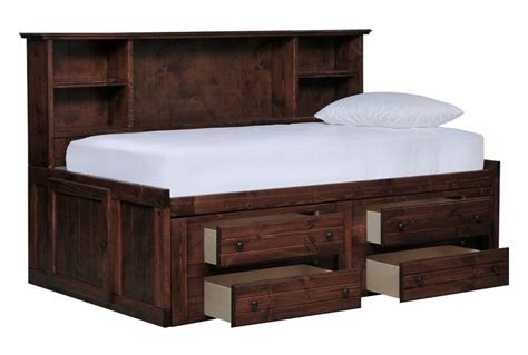 captains bed sedona roomsaver bed w 4 drawer captains unit