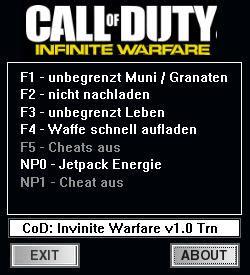 call  duty infinite warfare trainer   mrantifun