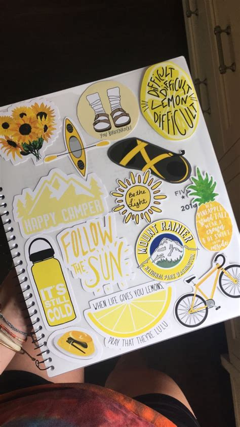 yellow planner birkenrock chacos pineapple sunflowers