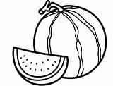 Watermelon Coloring Printable sketch template