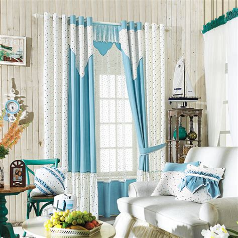 blue and white curtains affordable baby blue white polka dots lace polyester bay