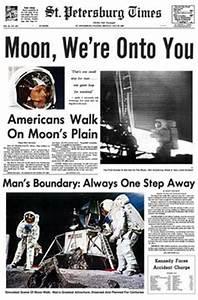 Image Gallery moon landing news article