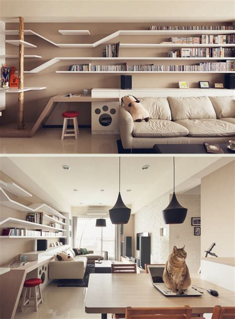 Home Design With Pets In Mind by Felines Living Room Interior Design Has Cats In