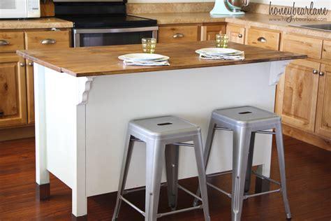 how to add a kitchen island adding a bar to a kitchen island honeybear 8489