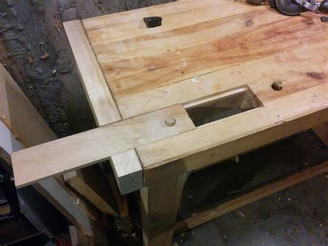 added  unconventional wagon vise   bench