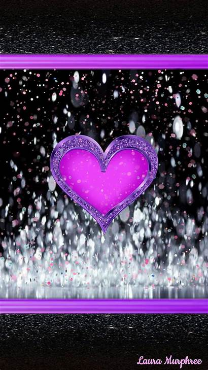 Heart Glitter Hearts Phone Girly Cool Wallpapers