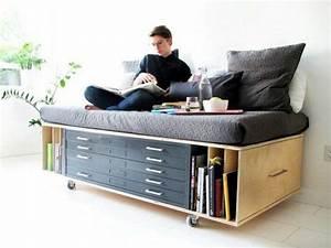 17 meilleures idees a propos de lit gain de place sur for Meuble gain de place studio 17 mezzanine inspiration gain de place cate maison