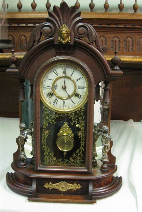 haven mirror side shelf clock occidental circa
