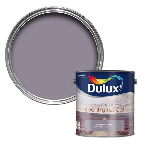 dulux travels in colour climb purple matt emulsion paint 2 5l bedrooms living rooms