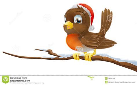 Christmas Robin Stock Vector. Illustration Of Background