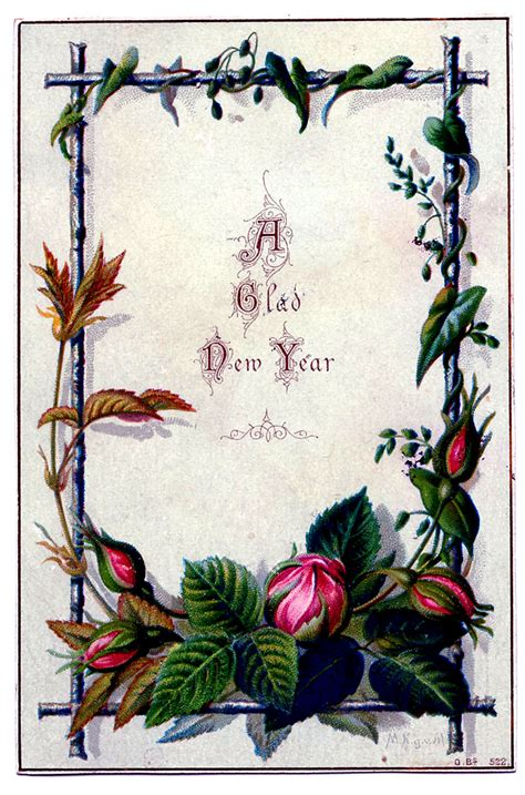 vintage  year clip art moss rose frame  graphics