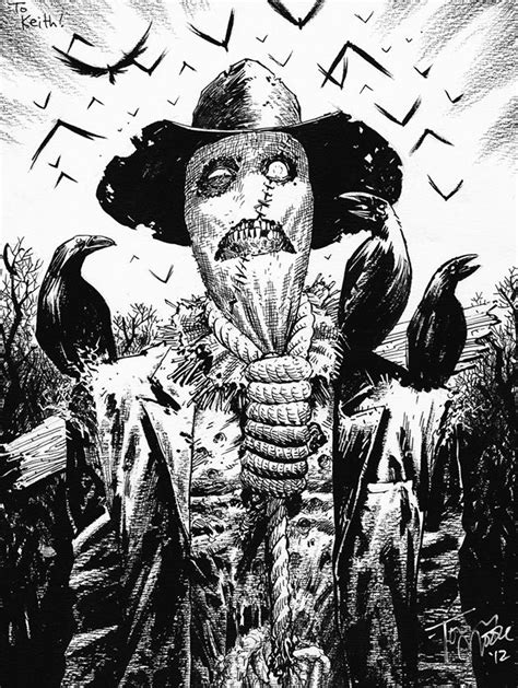 Scarecrow by Tony Moore | Geeky Shite | Scarecrow batman, Comic art, DC Comics Art