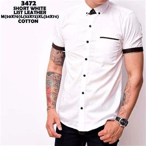 jual promo baju hem baju polos cowok pendek cotton hem distro stok terbatas di lapak mandaeka