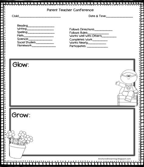 parent teacher conference for preschool anchored in learning you oughta august hop 862