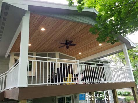 timbertech   deck roof  cedar carsiding des