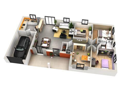plan maison moderne 4 chambres maison moderne