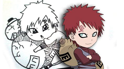 How To Draw Gaara Chibi From Words
